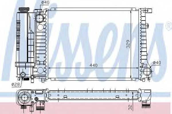 Радиатор охлаждения двигателя NISSENS 60735A - изображение
