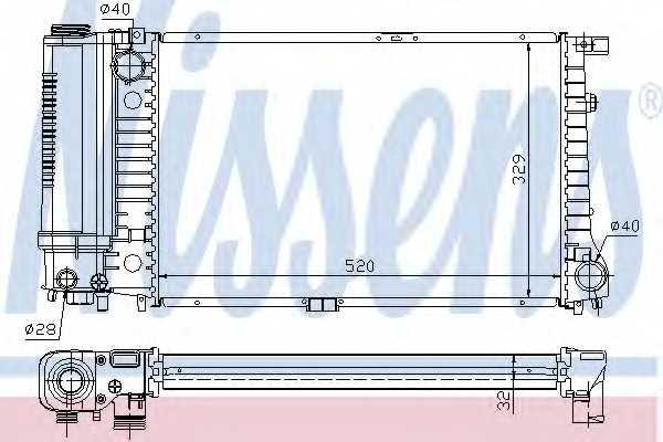 Радиатор охлаждения двигателя NISSENS 60736A - изображение