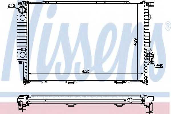 Радиатор охлаждения двигателя NISSENS 60747A - изображение