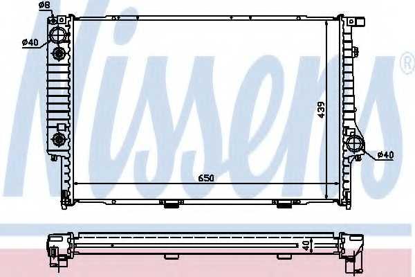 Радиатор охлаждения двигателя NISSENS 60748A - изображение