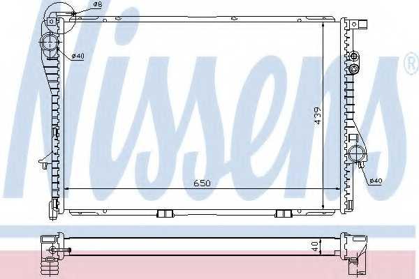 Радиатор охлаждения двигателя NISSENS 60752A - изображение