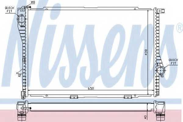 Радиатор охлаждения двигателя NISSENS 60754A - изображение