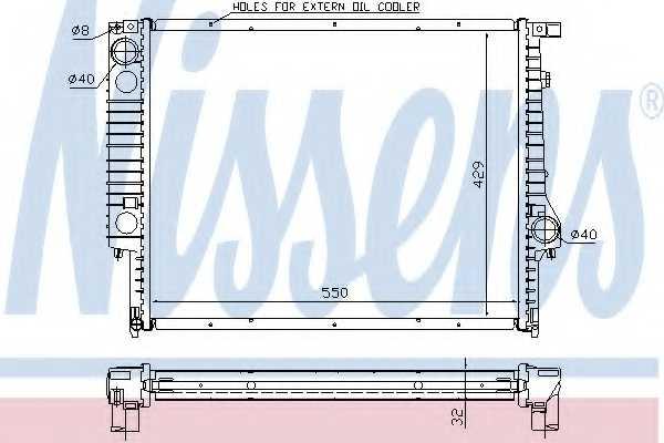 Радиатор охлаждения двигателя NISSENS 60759A - изображение