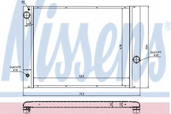 Радиатор охлаждения двигателя NISSENS 60763 - изображение