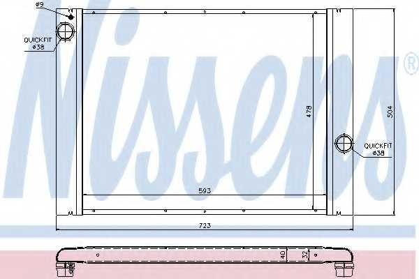 Радиатор охлаждения двигателя NISSENS 60764 - изображение