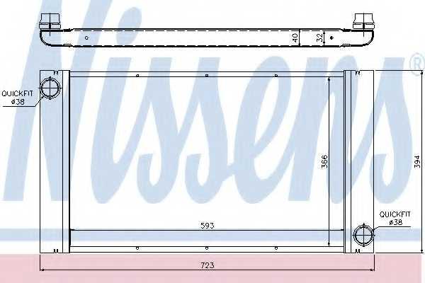 Радиатор охлаждения двигателя NISSENS 60765 - изображение