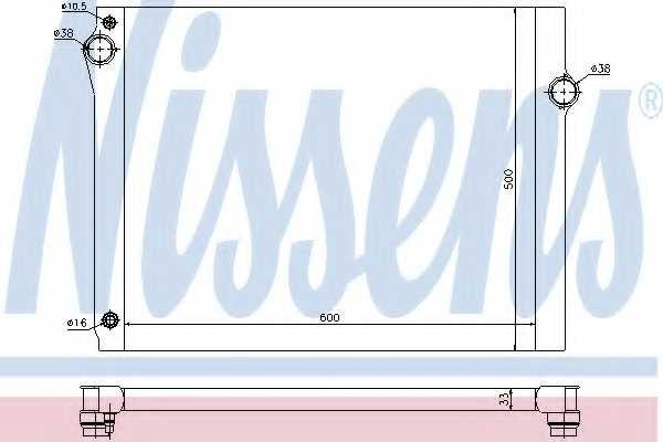 Радиатор охлаждения двигателя NISSENS 60768 - изображение
