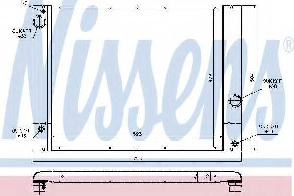 Радиатор охлаждения двигателя NISSENS 60772 - изображение