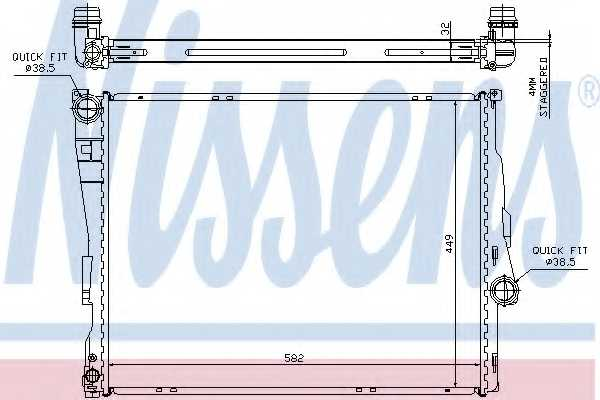 Радиатор охлаждения двигателя NISSENS 60782A - изображение