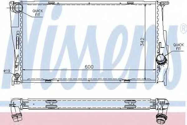 Радиатор охлаждения двигателя NISSENS 60785A - изображение