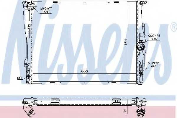 Радиатор охлаждения двигателя NISSENS 60786A - изображение