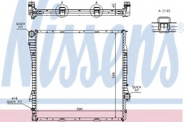 Радиатор охлаждения двигателя NISSENS 60787A - изображение