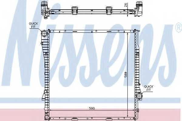 Радиатор охлаждения двигателя NISSENS 60789A - изображение