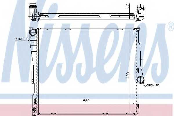 Радиатор охлаждения двигателя NISSENS 60803A - изображение