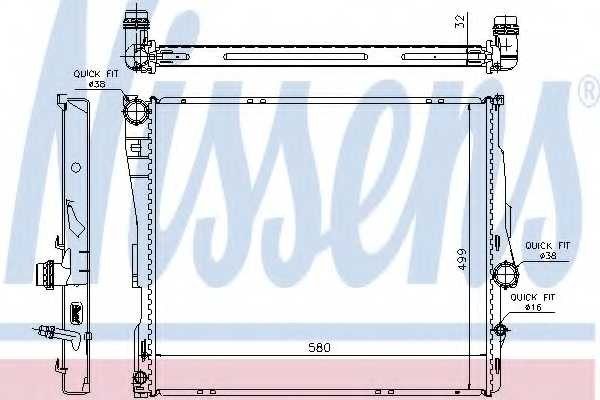 Радиатор охлаждения двигателя NISSENS 60807 - изображение