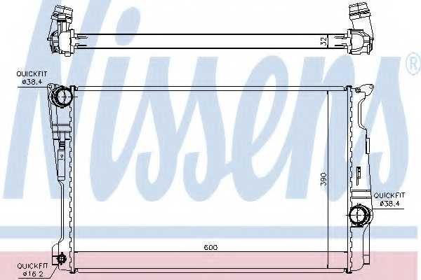 Радиатор охлаждения двигателя NISSENS 60809 - изображение
