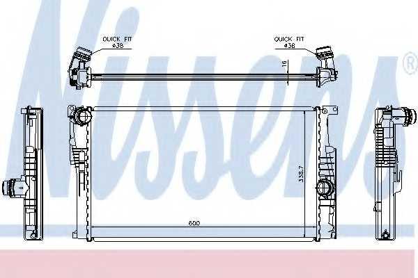 Радиатор охлаждения двигателя NISSENS 60814 - изображение