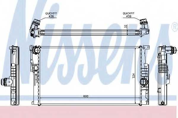 Радиатор охлаждения двигателя NISSENS 60816 - изображение