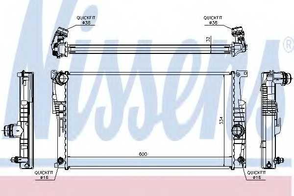 Радиатор охлаждения двигателя NISSENS 60817 - изображение