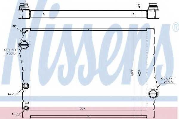 Радиатор охлаждения двигателя NISSENS 60823 - изображение