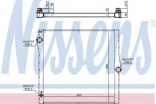 Радиатор охлаждения двигателя NISSENS 60825 - изображение