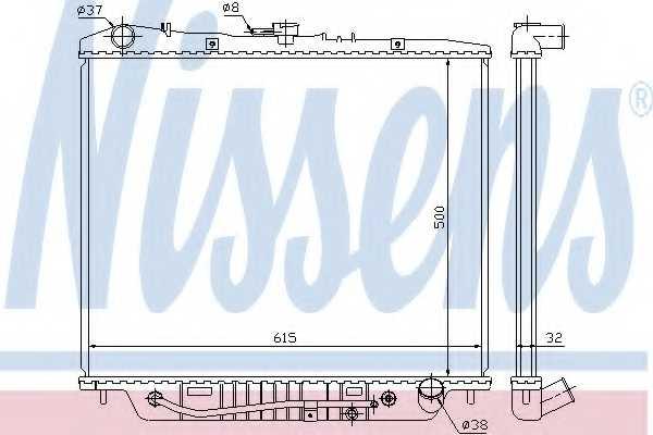 Радиатор охлаждения двигателя NISSENS 60852 - изображение
