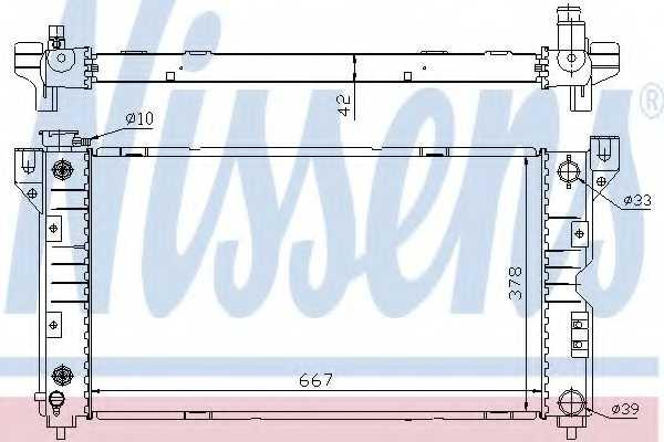 Радиатор охлаждения двигателя NISSENS 60984 - изображение