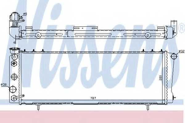Радиатор охлаждения двигателя NISSENS 609881 - изображение