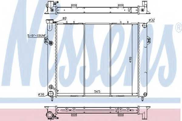 Радиатор охлаждения двигателя NISSENS 609891 - изображение