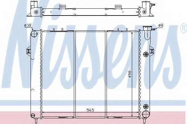 Радиатор охлаждения двигателя NISSENS 609901 - изображение