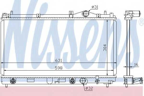 Радиатор охлаждения двигателя NISSENS 609941 - изображение