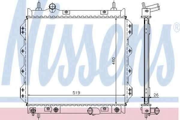 Радиатор охлаждения двигателя NISSENS 61002 - изображение