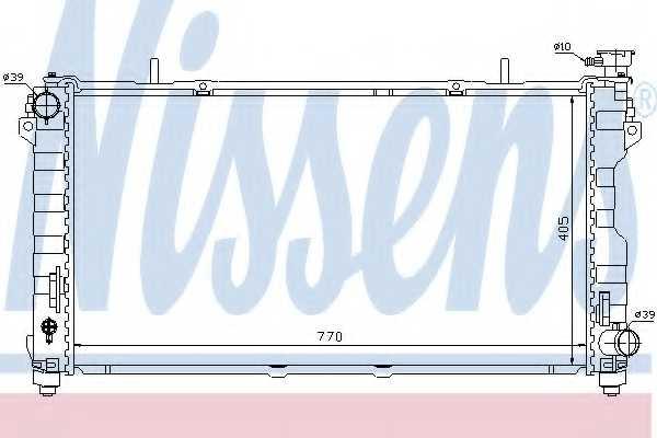 Радиатор охлаждения двигателя NISSENS 61004 - изображение