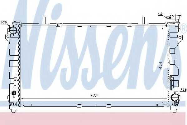 Радиатор охлаждения двигателя NISSENS 61005 - изображение