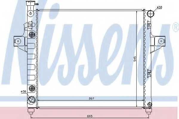 Радиатор охлаждения двигателя NISSENS 61009 - изображение