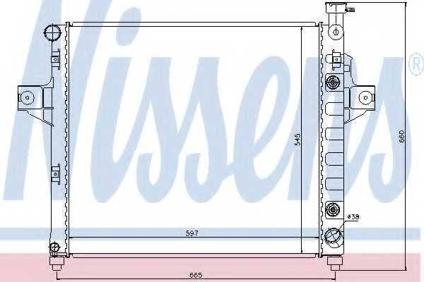 Радиатор охлаждения двигателя NISSENS 61010 - изображение