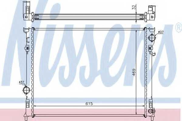 Радиатор охлаждения двигателя NISSENS 61014A - изображение