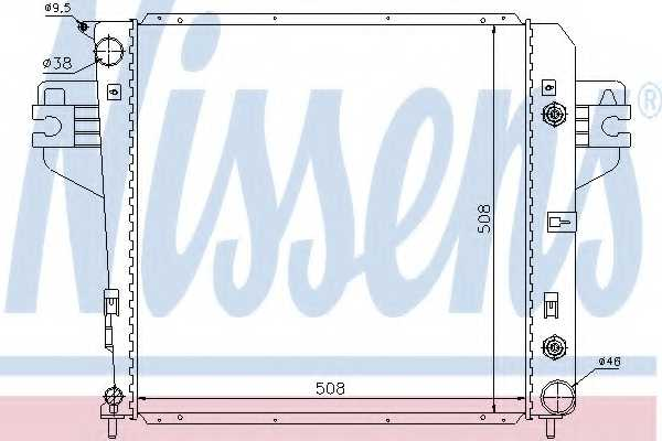 Радиатор охлаждения двигателя NISSENS 61017 - изображение