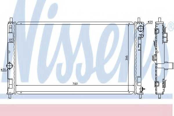 Радиатор охлаждения двигателя NISSENS 61019 - изображение