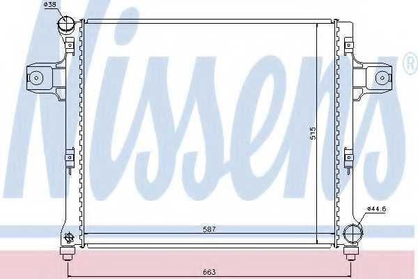 Радиатор охлаждения двигателя NISSENS 61022 - изображение