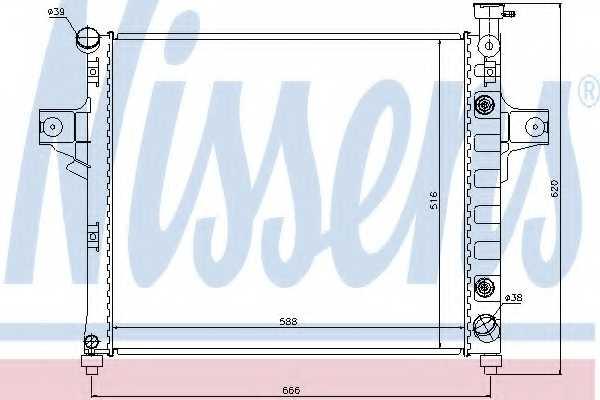 Радиатор охлаждения двигателя NISSENS 61023 - изображение