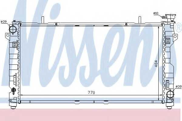 Радиатор охлаждения двигателя NISSENS 61025 - изображение