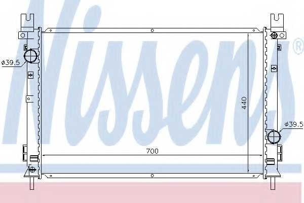 Радиатор охлаждения двигателя NISSENS 61028 - изображение