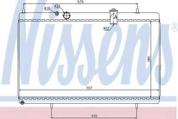 Радиатор охлаждения двигателя NISSENS 61271 - изображение