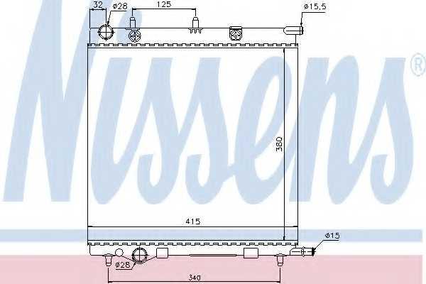 Радиатор охлаждения двигателя NISSENS 61284 - изображение