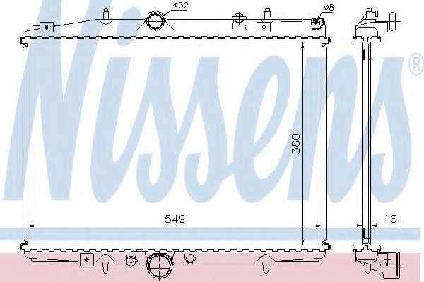 Радиатор охлаждения двигателя NISSENS 61291A - изображение