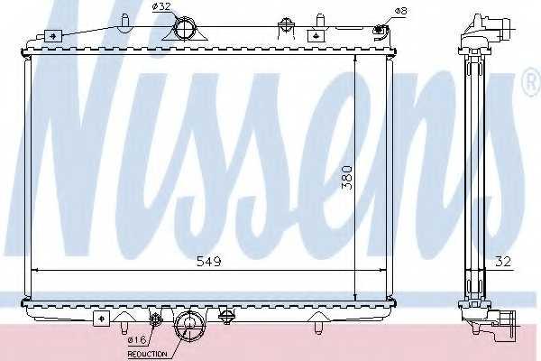 Радиатор охлаждения двигателя NISSENS 61292A - изображение