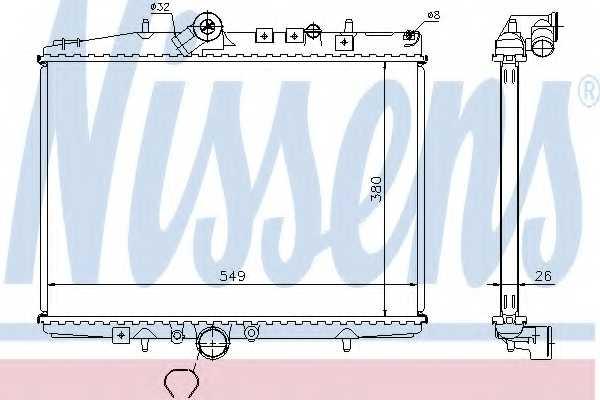 Радиатор охлаждения двигателя NISSENS 61294A - изображение