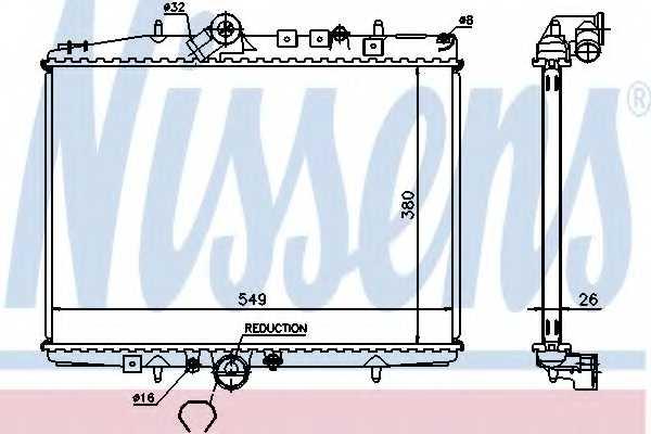 Радиатор охлаждения двигателя NISSENS 61295A - изображение