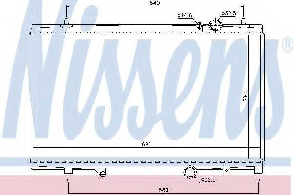 Радиатор охлаждения двигателя NISSENS 61297 - изображение